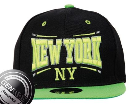 New York City Fashion Baseball Snapback Cap  schwarz-neongelb – Bild 4