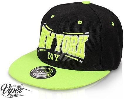 New York City Fashion Baseball Snapback Cap  schwarz-neongelb – Bild 2