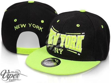 New York City Fashion Baseball Snapback Cap  schwarz-neongelb – Bild 1