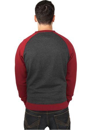 Urban Classics 2-Tone Raglan Sweatshirt charcoal-ruby von Größe S-2XL – Bild 2