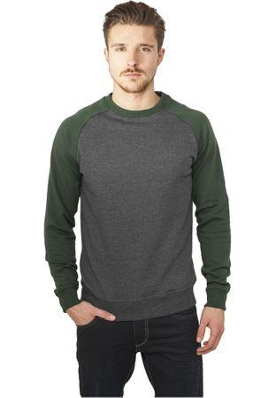 Urban Classics 2-Tone Raglan Sweatshirt charcoal-grün von Größe S-2XL