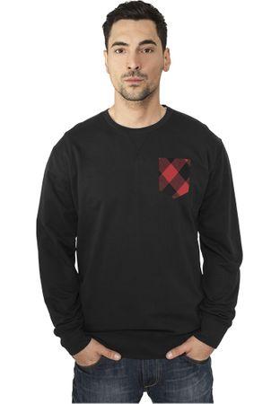 Urban Classics Contrast Pocket Crewneck in schwarz von Größe XS-XL – Bild 1