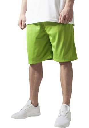 Urban Classics B-Ball Mesh Shorts in lime von S-3XL – Bild 1
