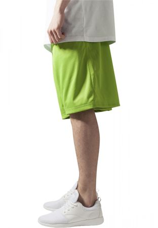 Urban Classics B-Ball Mesh Shorts in lime von S-3XL – Bild 3