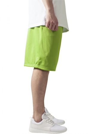 Urban Classics B-Ball Mesh Shorts in lime von S-3XL – Bild 4