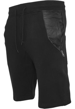 Urban Classics Side-Zip Leather Imitation Sweatshorts in schwarz von S-2XL – Bild 5