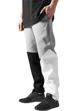 Urban Classics Zig-Zag Sweatpants in schwarz-grau-weiß von XS-2XL – Bild 1
