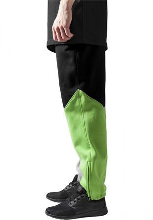 Urban Classics Zig-Zag Sweatpants in grau-schwarz-lime von XS-2XL – Bild 3