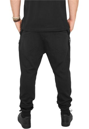 Urban Classics Side Zip Leather Pocket Sweatpant schwarz von S-2XL – Bild 2