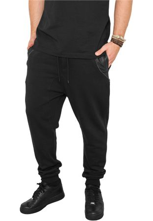 Urban Classics Side Zip Leather Pocket Sweatpant schwarz von S-2XL – Bild 1