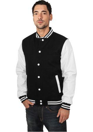 Urban Classics Oldschool College Jacken in schwarz-weiß von Größe S-3XL