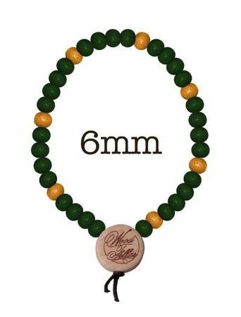 Wood Fellas Holzperlen Armkette in grün-gelb von Gr: 6-12mm Deluxe Bracelet – Bild 4