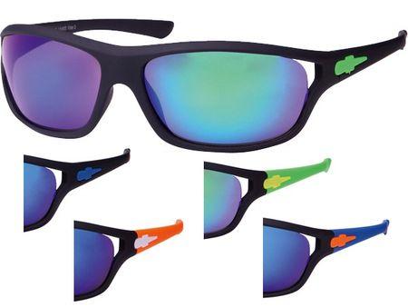 Viper Sport Sonnenbrille mit UV-400 in schwarz-neongrün