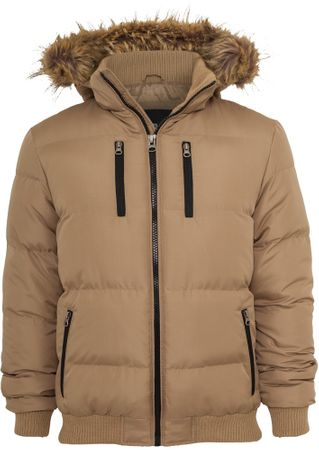Urban Classics Expedition Winterjacke in beige von S-3XL