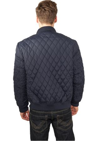 Urban Classics Diamond Quilt Nylon Jacket navy von S-2XL – Bild 2