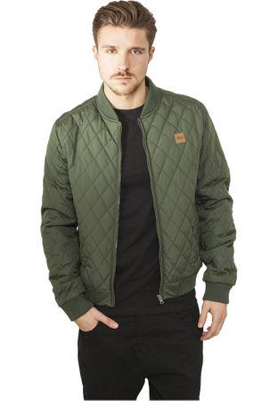 Urban Classics Diamond Quilt Nylon Jacket olive von S-2XL – Bild 1
