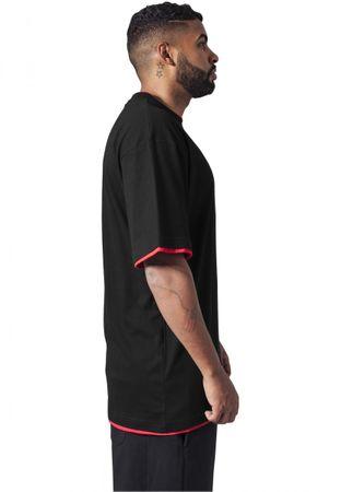 Urban Classics Contrast Tall Tee in schwarz/rot von M-6XL – Bild 3