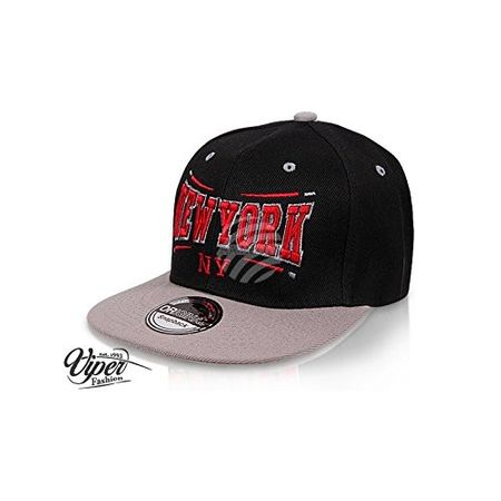 New York City Fashion Baseball Snapback Cap in schwarz-grau – Bild 2