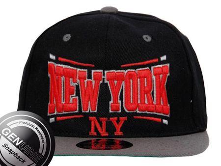New York City Fashion Baseball Snapback Cap in schwarz-grau – Bild 4