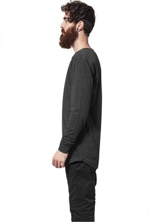 Urban Classics Long Shaped Fashion Longsleeve Tee in charcoal von S-2XL – Bild 4