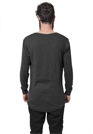 Urban Classics Long Shaped Fashion Longsleeve Tee in charcoal von S-2XL – Bild 2