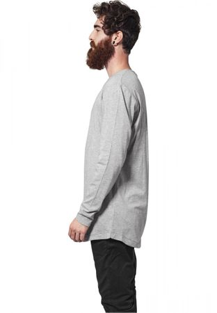 Urban Classics Long Shaped Fashion Longsleeve Tee in grau von S-2XL – Bild 4