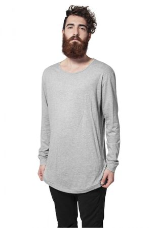 Urban Classics Long Shaped Fashion Longsleeve Tee in grau von S-2XL – Bild 1