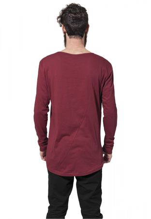 Urban Classics Long Shaped Fashion Longsleeve Tee in burgundy von S-2XL – Bild 2
