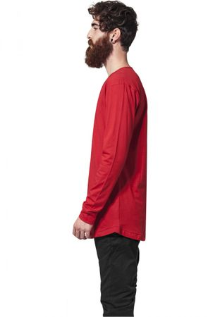 Urban Classics Long Shaped Fashion Longsleeve Tee in rot von S-2XL – Bild 4