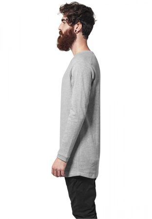 Urban Classics Long Shaped Waffle Longsleeve Tee in grau von S-2XL – Bild 3