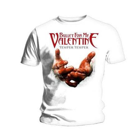 Bullet For My Valentine Bandshirt Temper Temper Blood Hands von S-2XL