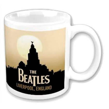 The Beatles Kaffeetasse Liverpool mit Geschenkbox