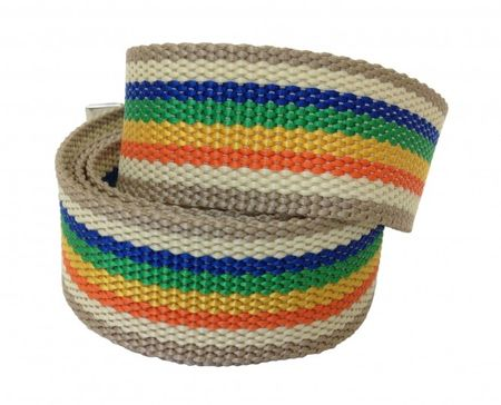 Stoffgürtel / Matrosengürtel / Canvas Belt in Rainbow 2 von 115cm-150cm – Bild 2