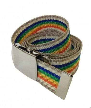 Stoffgürtel / Matrosengürtel / Canvas Belt in Rainbow 2 von 115cm-150cm – Bild 1
