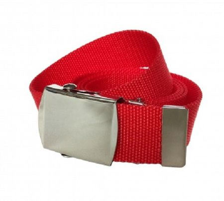 Stoffgürtel / Matrosengürtel / Canvas Belt in rot von 115cm-150cm