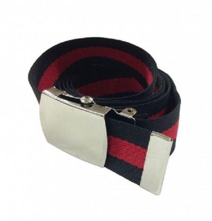 Stoffgürtel / Matrosengürtel / Canvas Belt in schwarz-rot von 115cm-150cm