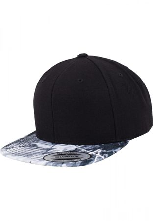 Flexfit Oil Paint Snapback Cap in grau – Bild 1