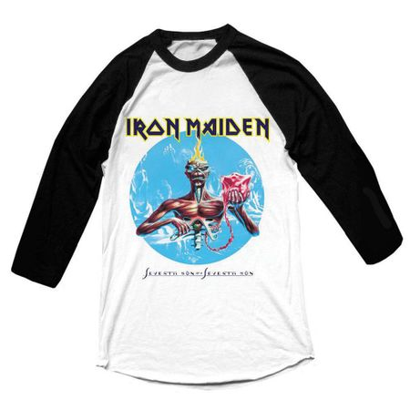 Iron Maiden Longsleeves Raglan Tee Seventh Son in XL
