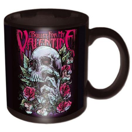Bullet for my Valentine Keramik Kaffeetasse Skull Red Eyes