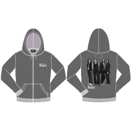 The Beatles Kapuzenjacke White Album Marl Grey von S-2XL