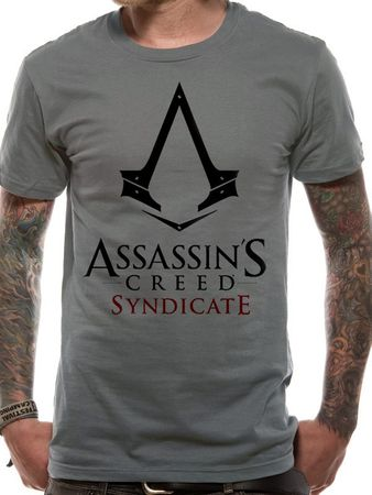 Assassins Creed Fan T-Shirt Syndicate Logo grau von S-XL