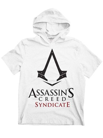 Assassins Creed Syndicate Hooded Sweatshirt in weiß von M-XL