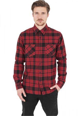 Urban Classics Checked Flanell Shirt in rot-schwarz von S-2XL – Bild 1