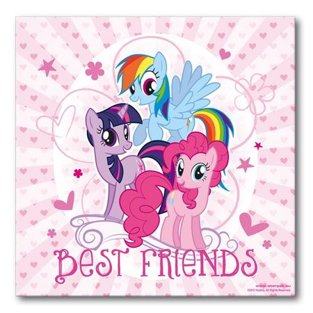 My Little Pony Leinwand 25x25cm