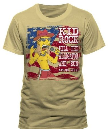 Simpsons Kid Rock Stars Shirt in M