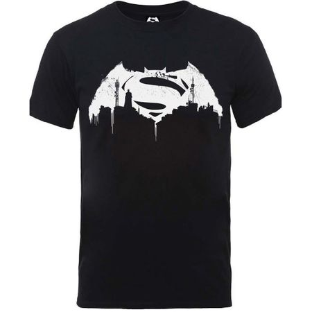 Marvel Comics Batman V Superman Beaten Logo T-Shirt von S-2XL
