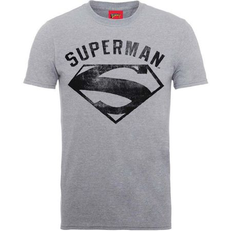 Superman Spray Logo T-Shirt in M, XL und 2XL