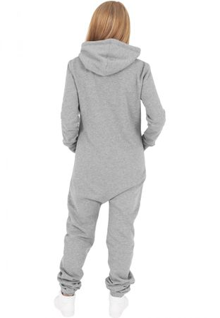 Urban Classics Ladies Sweat Jumpsuit grau-weiß von XS-XL – Bild 2