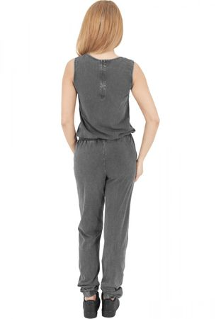 Urban Classics Denim Jersey Sleeveless Jumpsuit grau von XS-XL – Bild 2