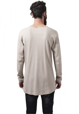 Urban Classics Long Shaped Waffle Longsleeve Tee in sand von S-2XL – Bild 2